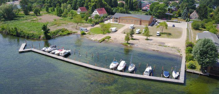 Luftbild vom Hangar 19